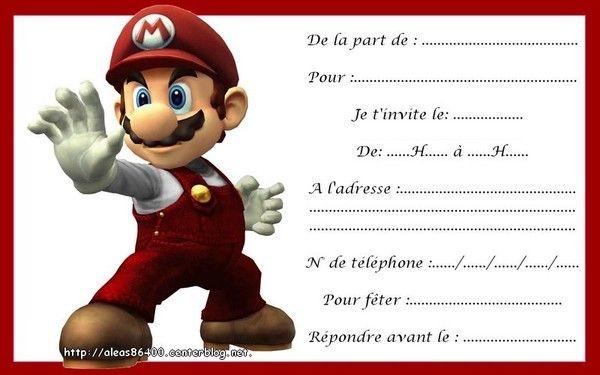 Carte Anniversaire Mario