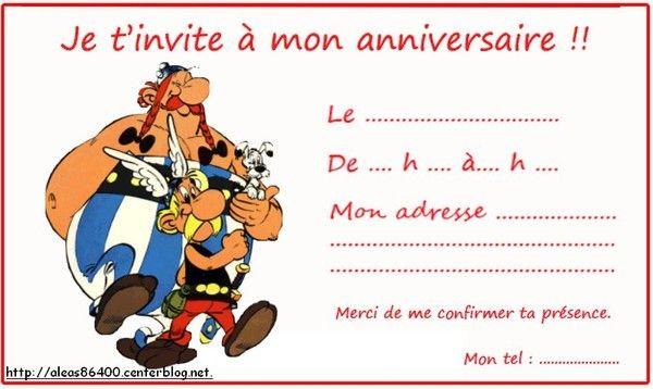 Cartes Invitations Asterix Et Obelix