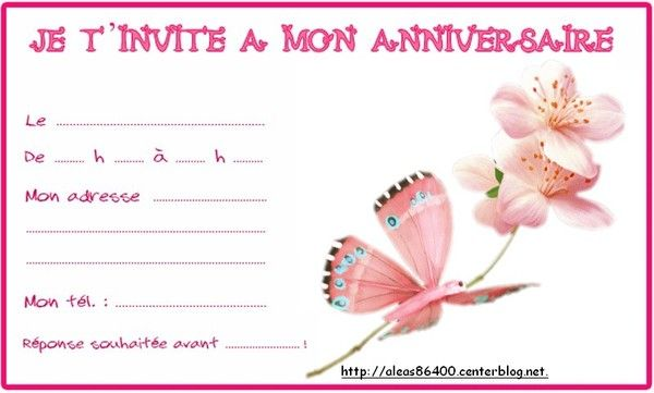 Top invitation Papillon 01 QC81