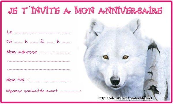 Bien-aimé invitation Loup 01 PZ13
