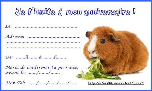 Bien-aimé cartes invitations animaux PZ13
