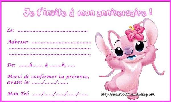 Cartes Invitations Lilo Et Stitch