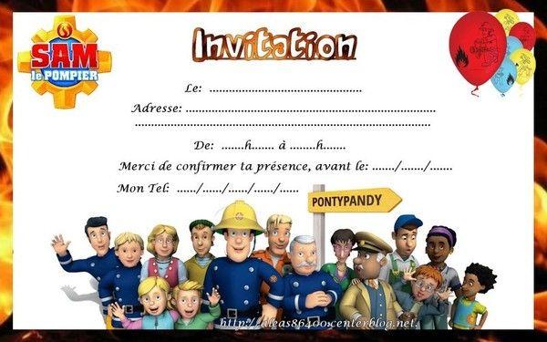 Super invitation Sam le pompier 09 CQ56