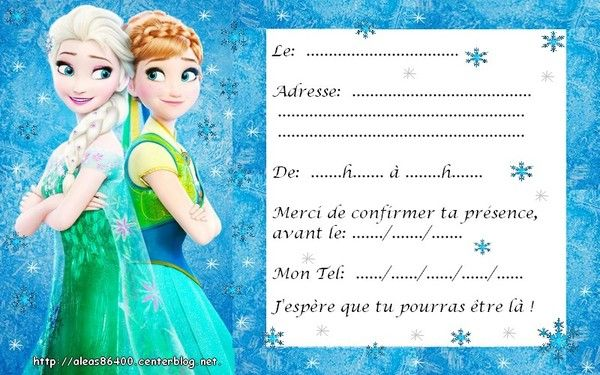 Cartes invitations reine des neiges 10 stopboris Gallery