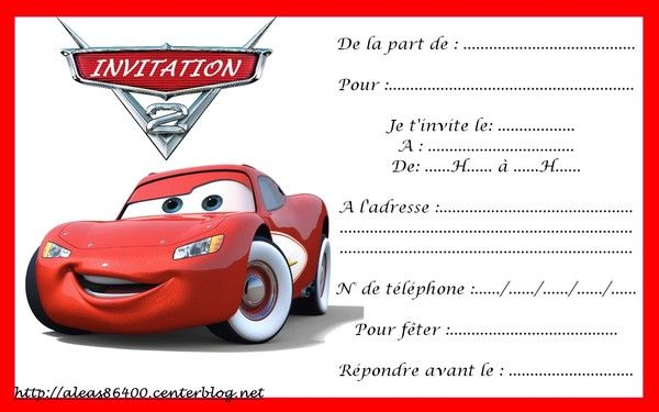 Populaire invitation Cars 01 NJ39