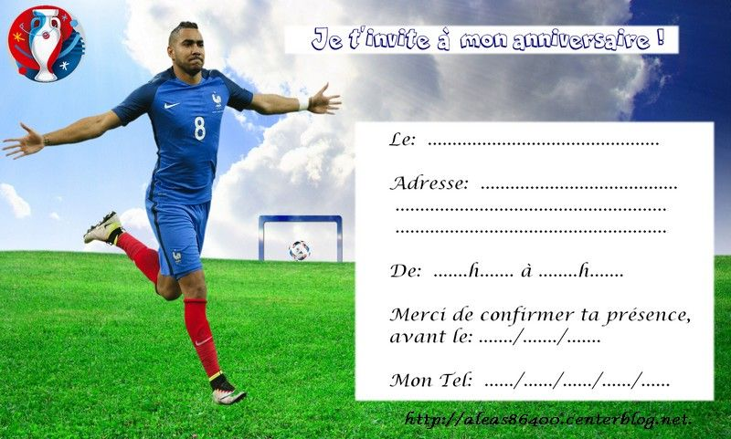 Carte Invitation Anniversaire Foot