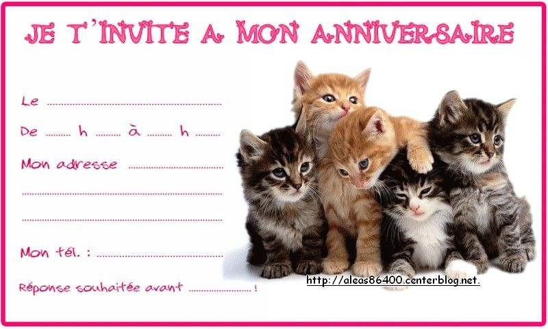 invitation anniversaire animaux. Black Bedroom Furniture Sets. Home Design Ideas