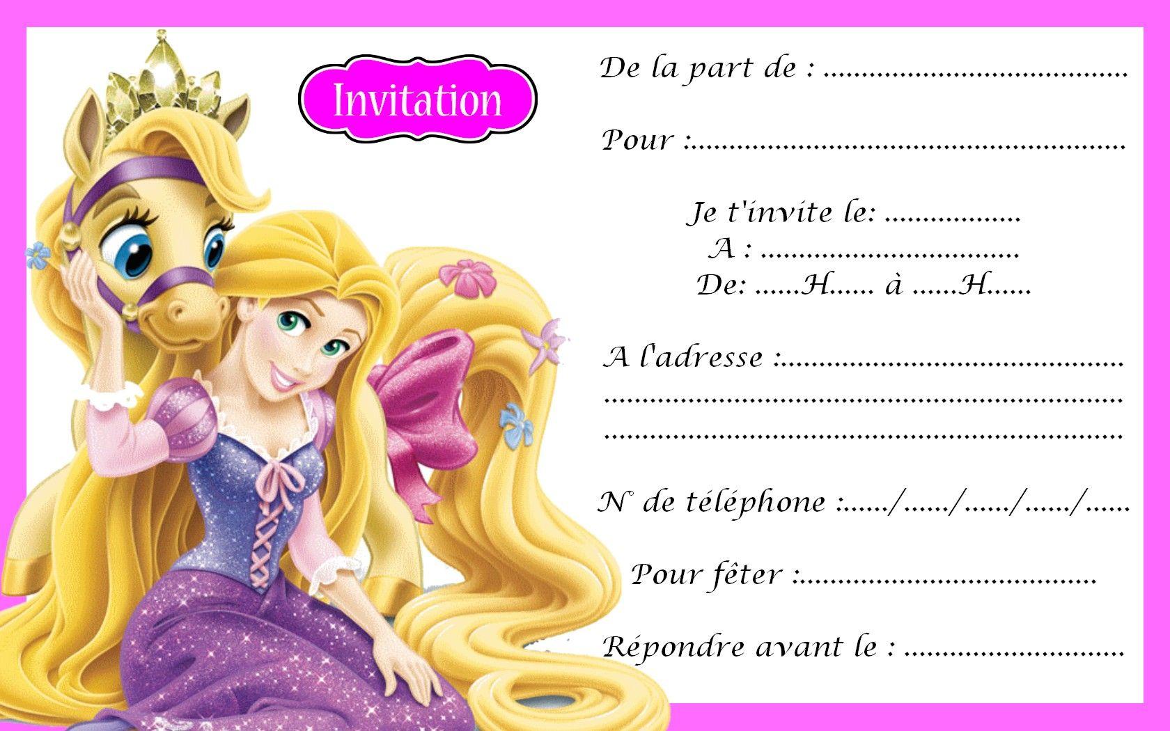 Carte Invitation Princesse 14