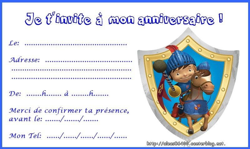 cartes invitations mike le chevalier