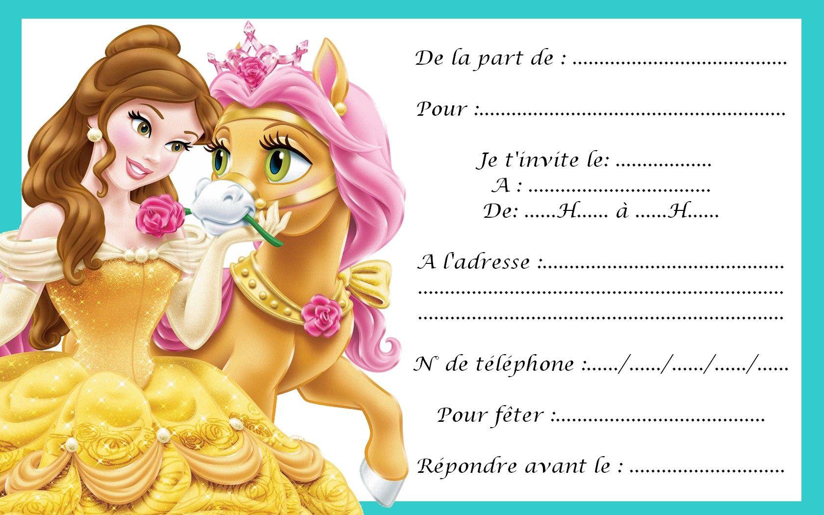 Carte Invitation Princesse 09