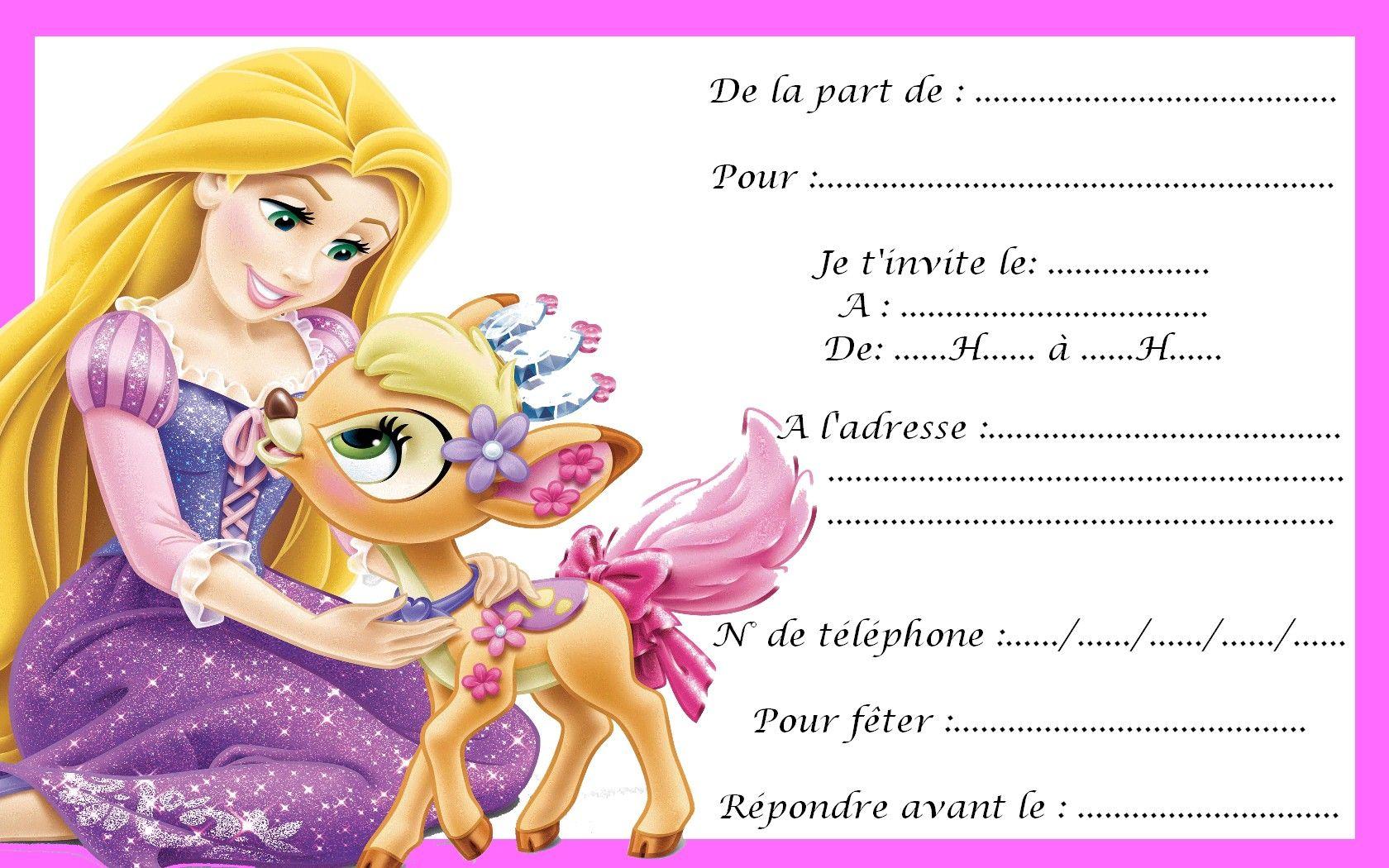 Carte Invitation Princesse 12