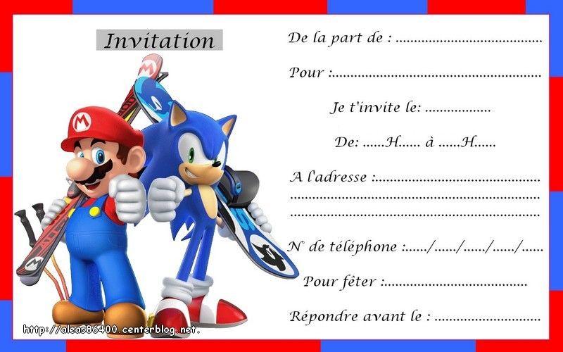 Cartes Invitations Mario 06