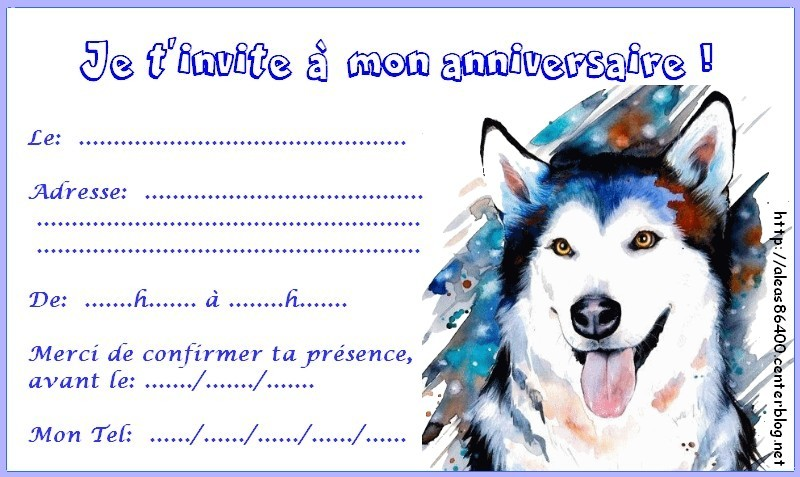 Carte Anniversaire Loup.Cartes Invitations Page 2